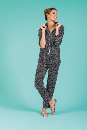 Pijama señora tela, verano, pantalón largo