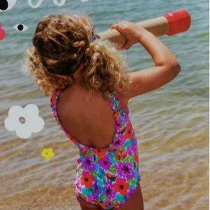 Bañador niña floral de Bora-Bora