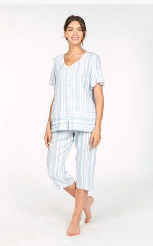 Pijama señora verano pantalón pirata