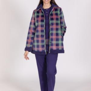 Conjunto pijama y bata de señora